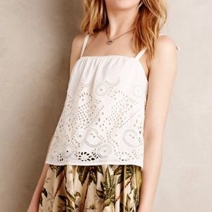 HD in Paris White Silk Blend Tank Size Medium